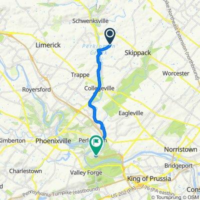 Lederach Rd, Schwenksville to Schuylkill River Connector Trail, Norristown