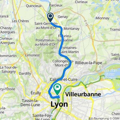 De Rue du Pont Vert, Genay à 4 Rue Neyret, Lyon