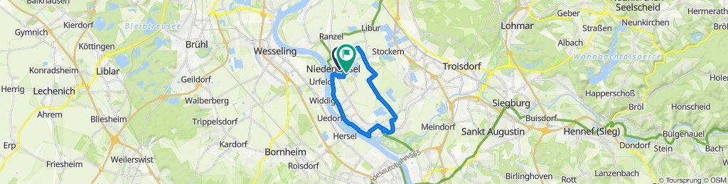 Spicher Straße 24, Niederkassel nach Otto-Hahn-Straße 14, Niederkassel