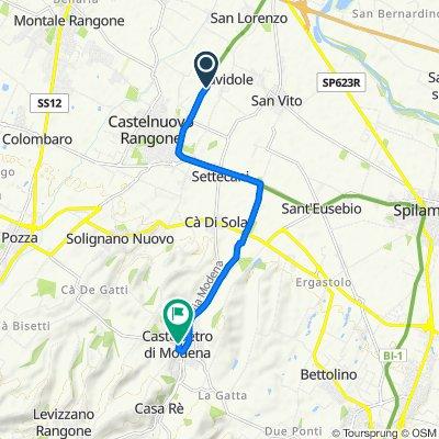 Unnamed Road, Castelnuovo Rangone to Piazza Roma 3, Castelvetro di Modena