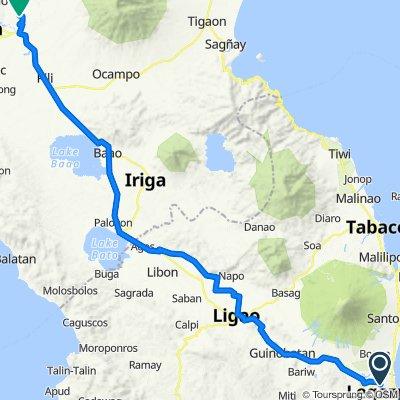 Unnamed Road, Legazpi City to Unnamed Road, Naga