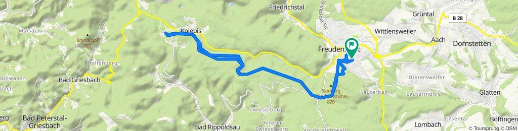 Herrenfelder Straße 36, Freudenstadt nach Herrenfelder Straße 33, Freudenstadt