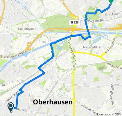 Derfflingerstraße 27, Oberhausen nach Waisenhausstraße 25, Oberhausen