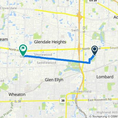 Moderate route in Carol Stream
