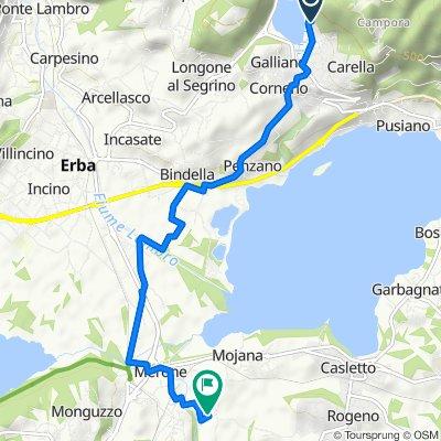 Da Via Amendola Giorgio 4, Corneno-galliano-carella Mariaga a Via G. Garibaldi 4, Merone