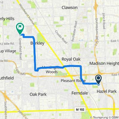 2259 Hamata St, Ferndale to 4474–4498 W Webster Rd, Royal Oak
