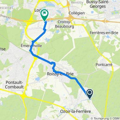 De 329–397 Avenue Raoul Nordling, Ozoir-la-Ferrière à 25 Allée du 1er Mai, Croissy-Beaubourg