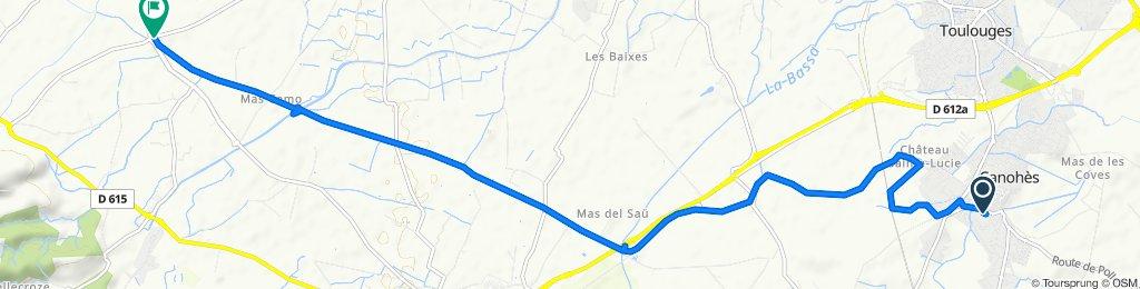 De Rue du Macabeu 16, Canohès à Mas d'en Alby 8, Camélas