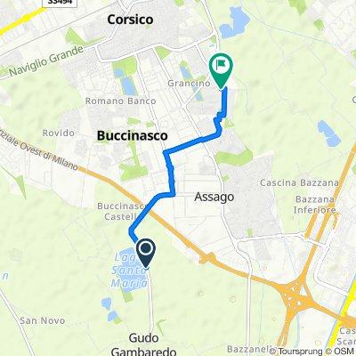 Percorso per Via Rodolfo Morandi 6, Buccinasco