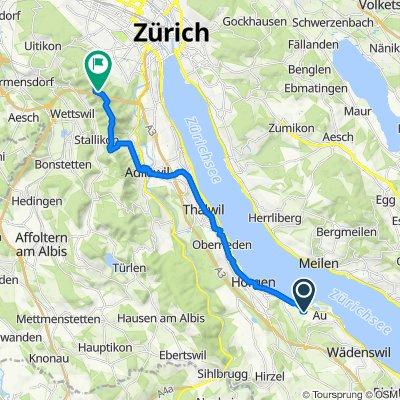 Alte Landstrasse 109, Au ZH nach Uetliberg 652, Stallikon