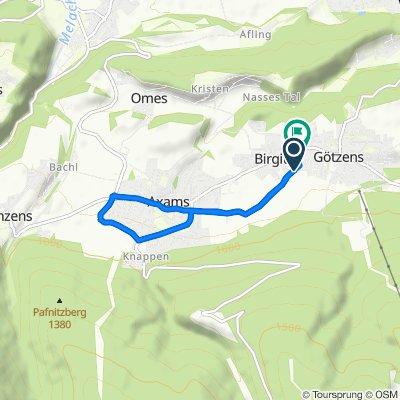 De Oberwiesenweg, Birgitz a Birgitzköpflweg 6, Birgitz
