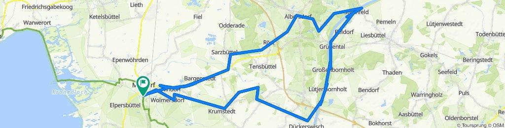 L138 60, Meldorf nach Friedrichshöferstraße 60, Meldorf