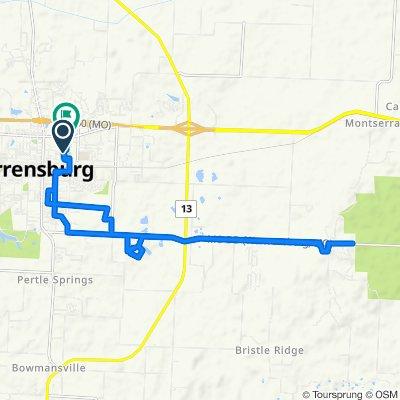 Commander Wilkes Dr, Warrensburg to 507 Streck Ln, Warrensburg