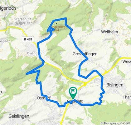 Hechinger Straße 1, Balingen nach Schweizer Straße 8, Balingen