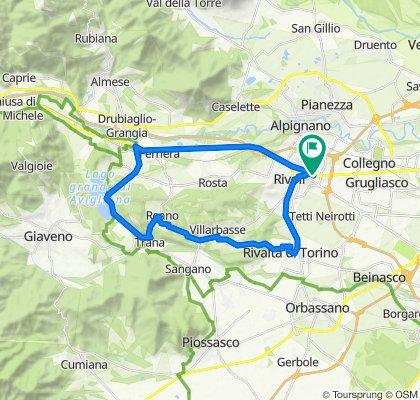 Corso Francia 43, Rivoli to Via Arno 7, Rivoli
