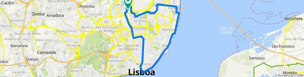 De Rua Amílcar Cabral 23, Lisboa a Rua Amílcar Cabral 38A, Lisboa