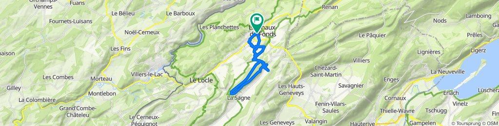 Itinéraire à partir de Rue du Parc 54, La Chaux-de-Fonds