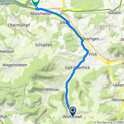 Dorfplatz 100, Wölflinswil nach Rüchligstrasse 18, Stein AG