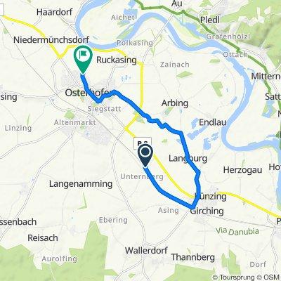Angerpoint 8, Künzing nach Mühlhamer Straße 36, Osterhofen