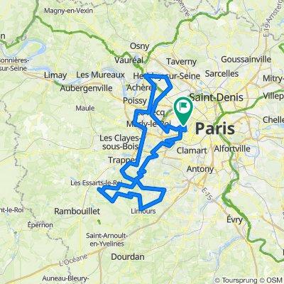 Gravel - Paris - Reposes - Vallée de Chevreuse - St Germain - Conflans - Malmaison