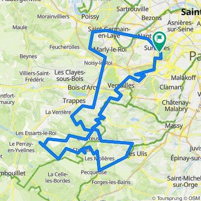 Gravel - Paris - Reposes - Vallée de Chevreuse - St Germain - Valérien