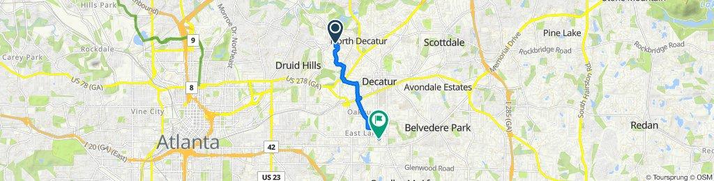 478 Burlington Rd NE, Atlanta to 52 Spence Ave SE, Atlanta