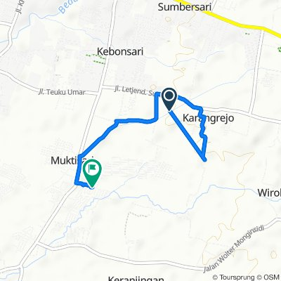 Jalan Airlangga, Kecamatan Sumbersari to Unnamed Road, Kecamatan Kaliwates