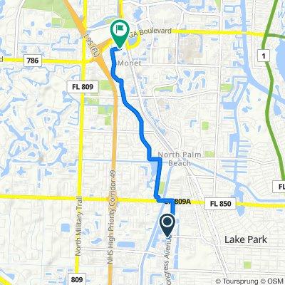 371–399 N Congress Ave, Lake Park to 4066–4298 Design Center Dr, Palm Beach Gardens