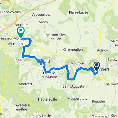 La Brieà vélo : de Coulommiers à Crécy-la-Chapelle