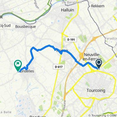 14 Rue Mac Donald, Tourcoing to 3 Rue Annie Girardot, Linselles