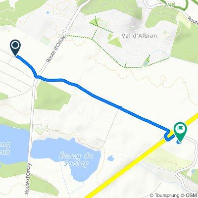 De Chemin du Petit Viltain à Villeras, Jouy-en-Josas à Chemin de Favreuse, Bièvres