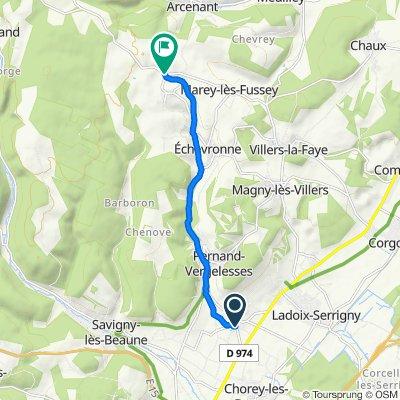 De Rue des Vercots, Aloxe-Corton à D8, Fussey
