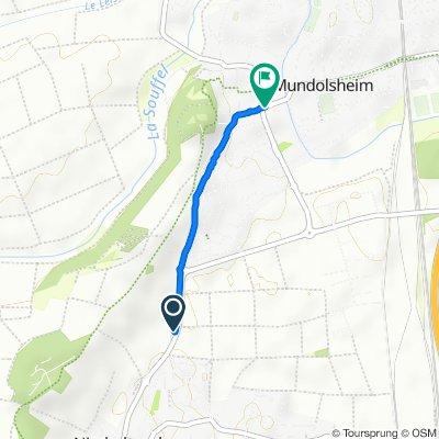 Rue de Mundolsheim, Niederhausbergen naar Rue du Général Leclerc, Mundolsheim