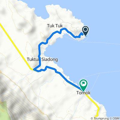 Kabupaten Samosir to Jalan Horas No.3, Simanindo