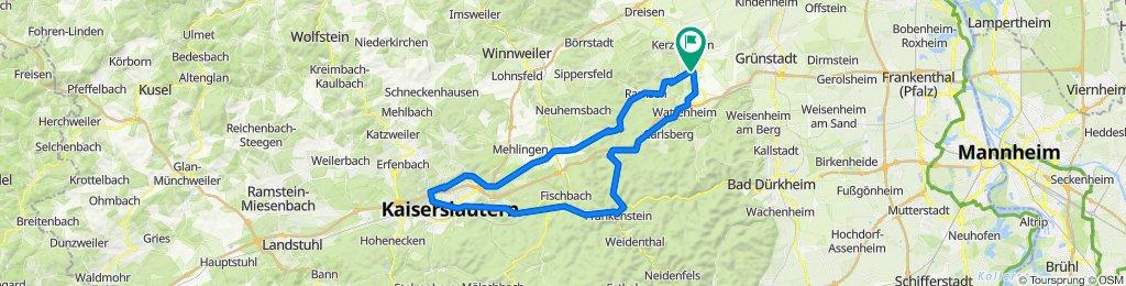 Pfälzer Schleife mit Teilen des Barbarossa Radwegs