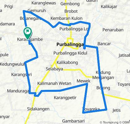 Jalan Selateri No 5, Kecamatan Padamara to Jalan Selateri No 5, Kecamatan Padamara