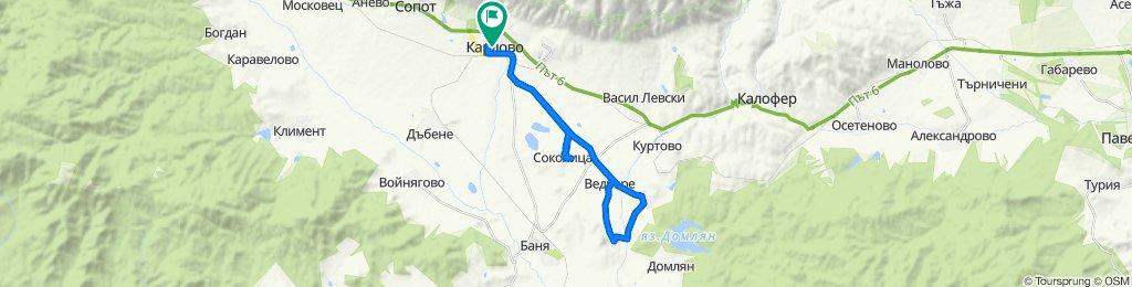 """Карлово-Горни Домлян-Бегунци-Ведраре-Соколица (""""Яев"""")-Карлово"""