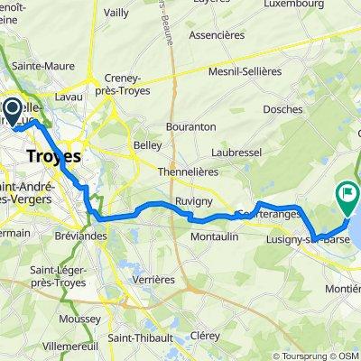 De 5 Rue Paul Chameroy, La Chapelle-Saint-Luc à D1g, Lusigny-sur-Barse