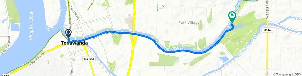 Seymour St, Tonawanda to 352–494 Creekside Dr, Tonawanda