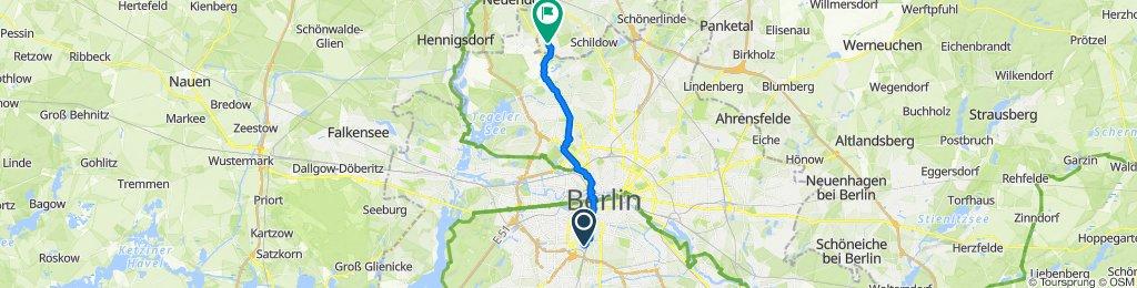 Wilhelm-Kabus-Straße 4, Berlin nach Sonnenblumenweg 49A, Glienicke/Nordbahn