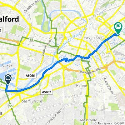 Trafford Wharf Road, Trafford to 3–5 Redhill St, Manchester