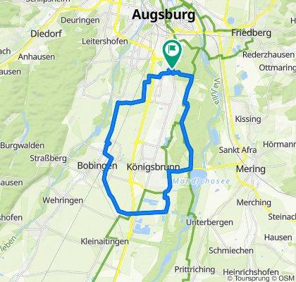 E-Bike rund um Königsbrunn MIke