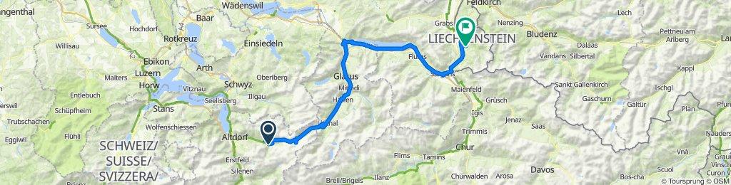 Unterschächen - Klausenpass - Lichtenstein