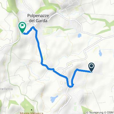 Da Via Dieci Giornate 150, Soiano Del Lago a Via dei Prati 130, Polpenazze del Garda