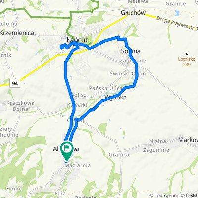 Spokojna trasa do Albigowa