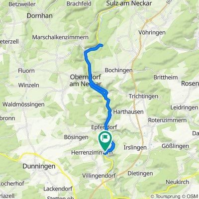 Rottweiler Straße 9, Epfendorf nach Rottweiler Straße 4, Epfendorf