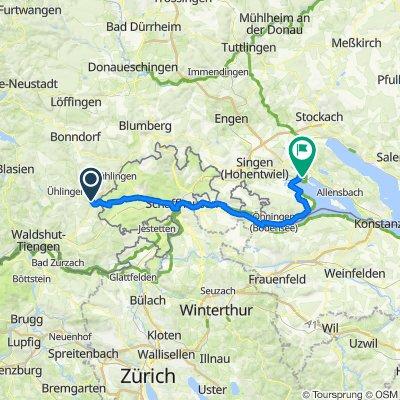 von Eggingen via Schaffhausen und Stein am Rhein nach Radolfszell