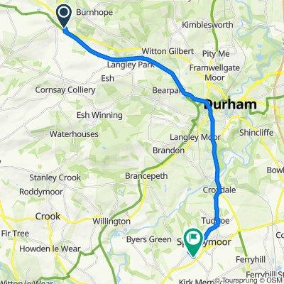 9 Manor Grange, Durham to 20 Rock Road, Spennymoor