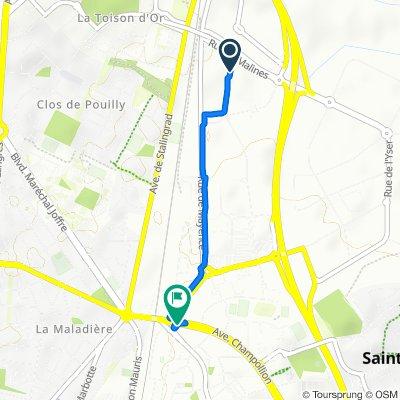 De 15 Impasse Boirac, Dijon à Avenue Champollion, Dijon
