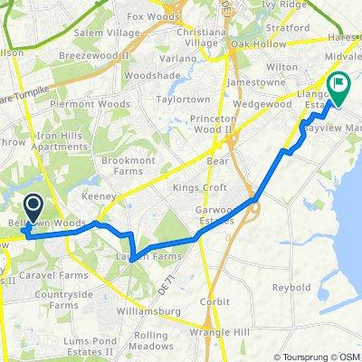 2275 Pulaski Hwy, Newark to 320 Llangollen Blvd, New Castle